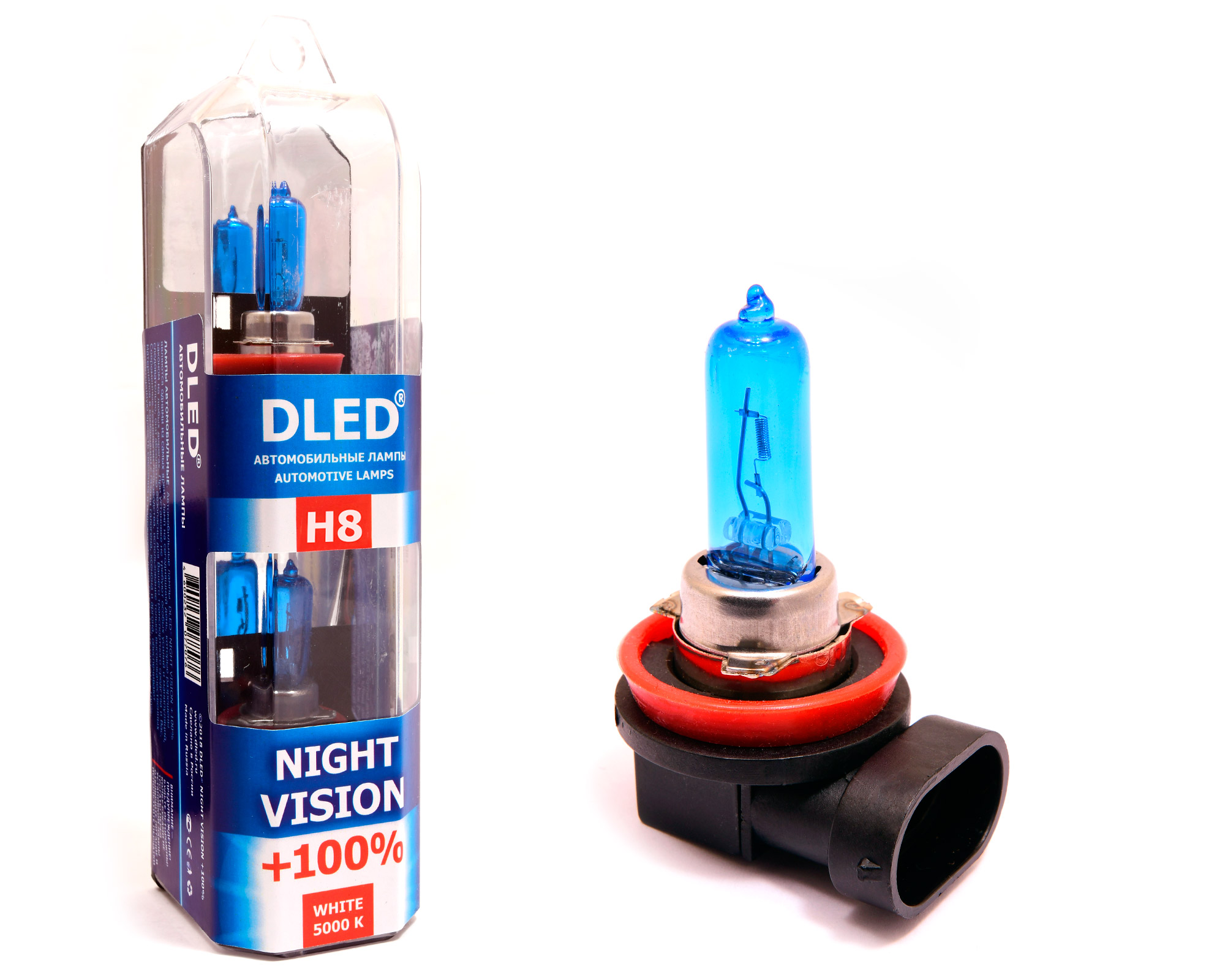 автомобильная лампа H8 5000k Dled Night Vision