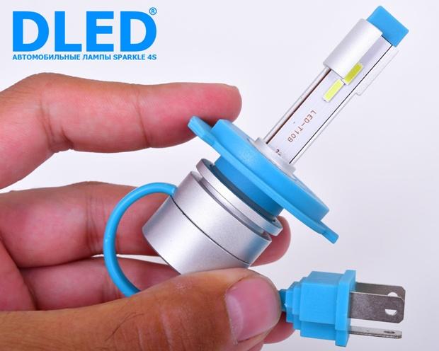 Светодиодные автомобильные лампы H4 Sparkle 4S от компании DLED