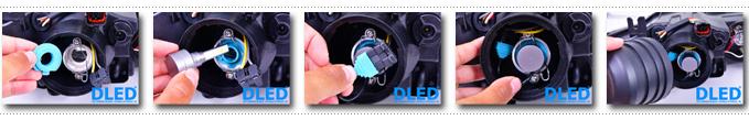 Установка светодиодных автомобильных лампы DLED Sparkle 4S