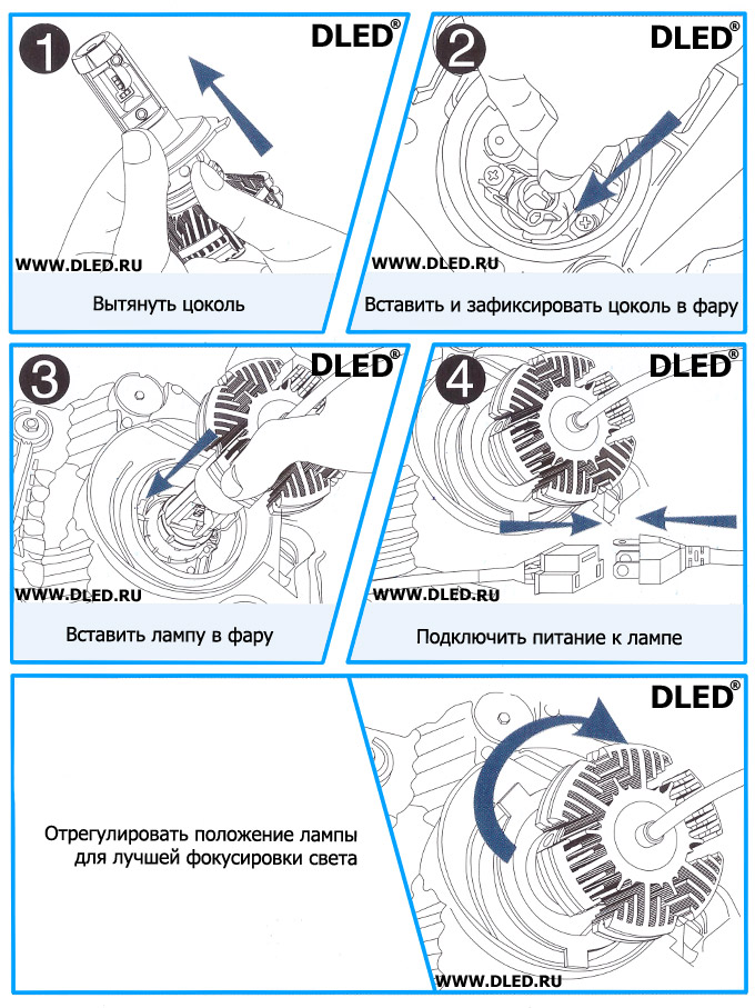 Схема светодиодной автолампы Dled ZEON