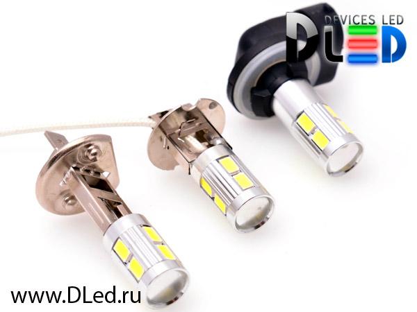 новейшие светодиодные лампы н1 н3 н27 со встроенным стабилизатором