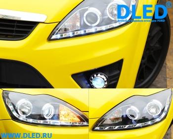 DLED Передние фары для Ford Focus 2009-2011